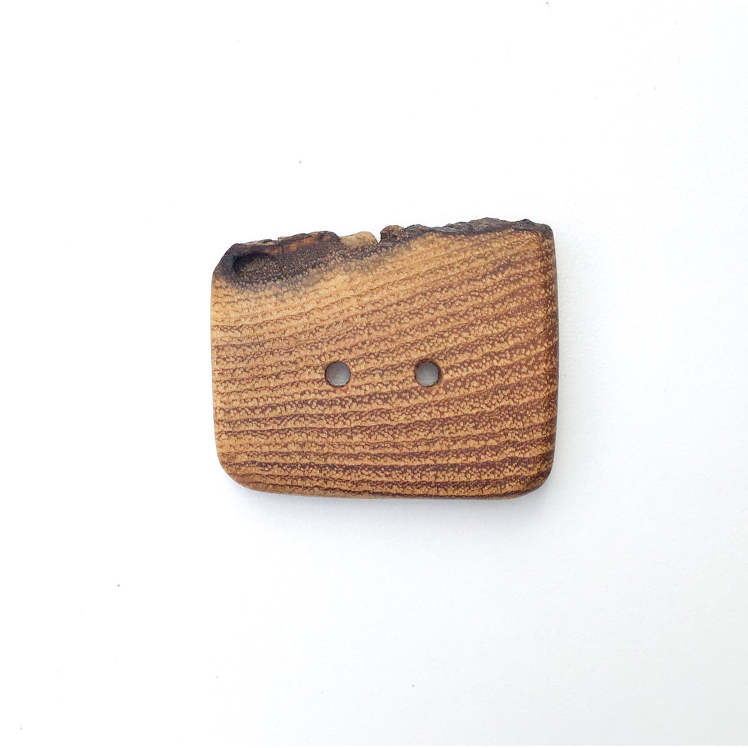 Live Edge Black Locust Wood Button - 1 5/8