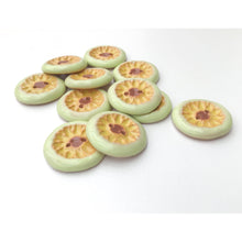 "Load image into Gallery viewer, Yellow Daisies Ceramic Buttons -  Ceramic Buttons Featuring Yellow Daisies and Light Green Trim - 7/8"" Buttons"