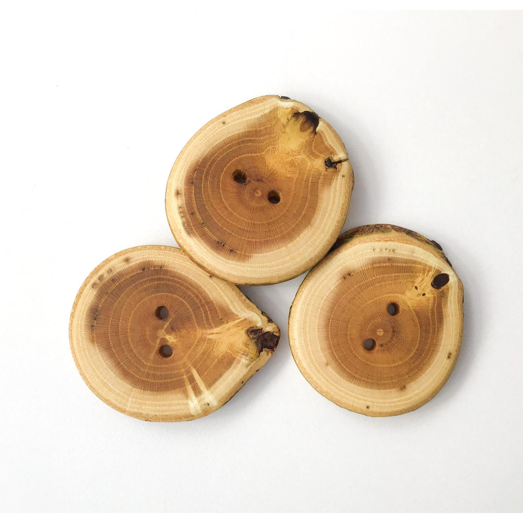 Mulberry Wood Buttons - Large Wood Buttons - 1 1/2