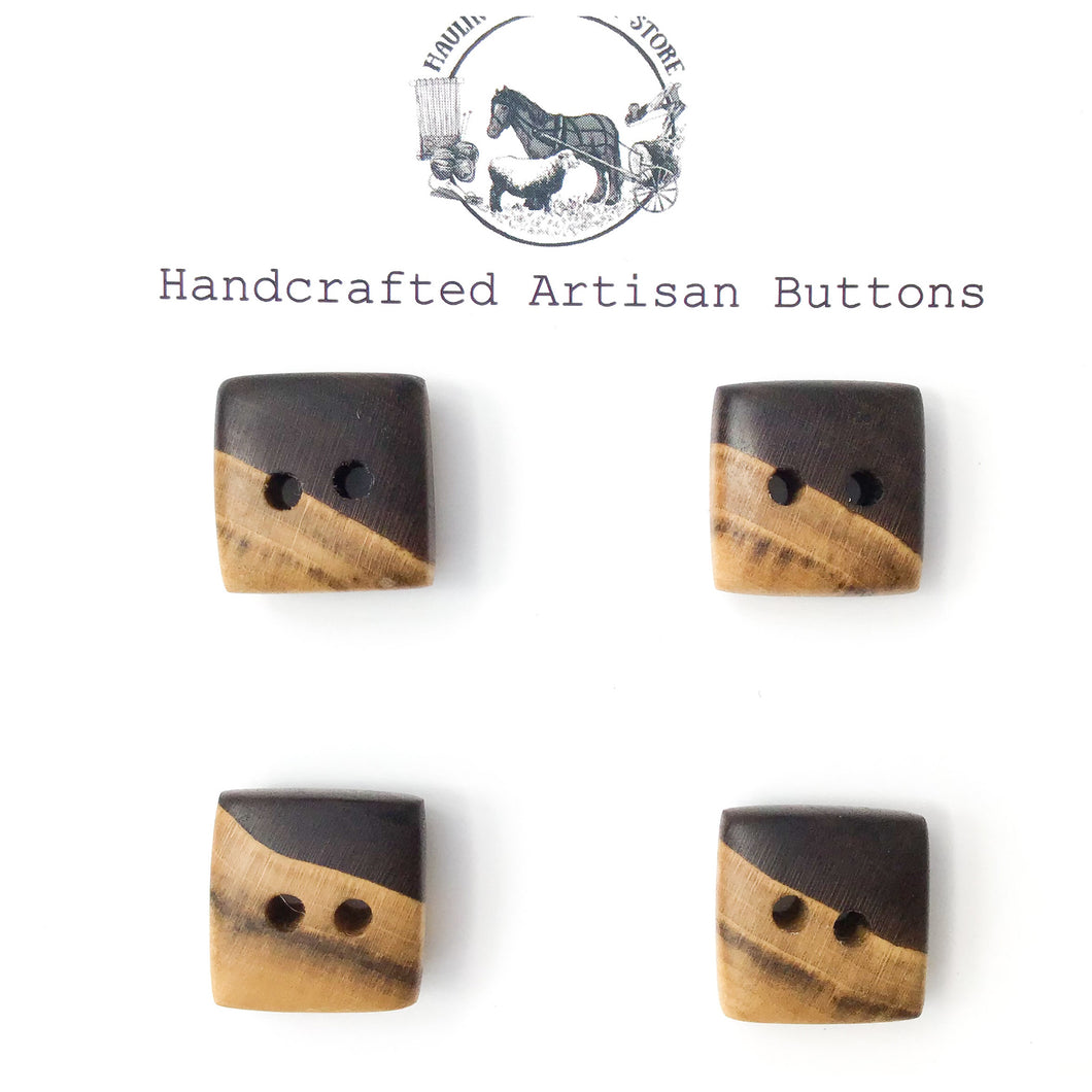 Black Walnut Wood Buttons - Walnut Sap & Heartwood Buttons - 3/4