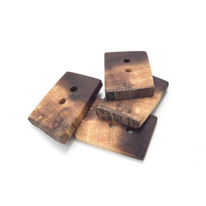 "Rustic Black Walnut Wood Buttons - Live Edge Black Walnut Buttons - 13/16"" x 1 1/8"" - 4 Pack"
