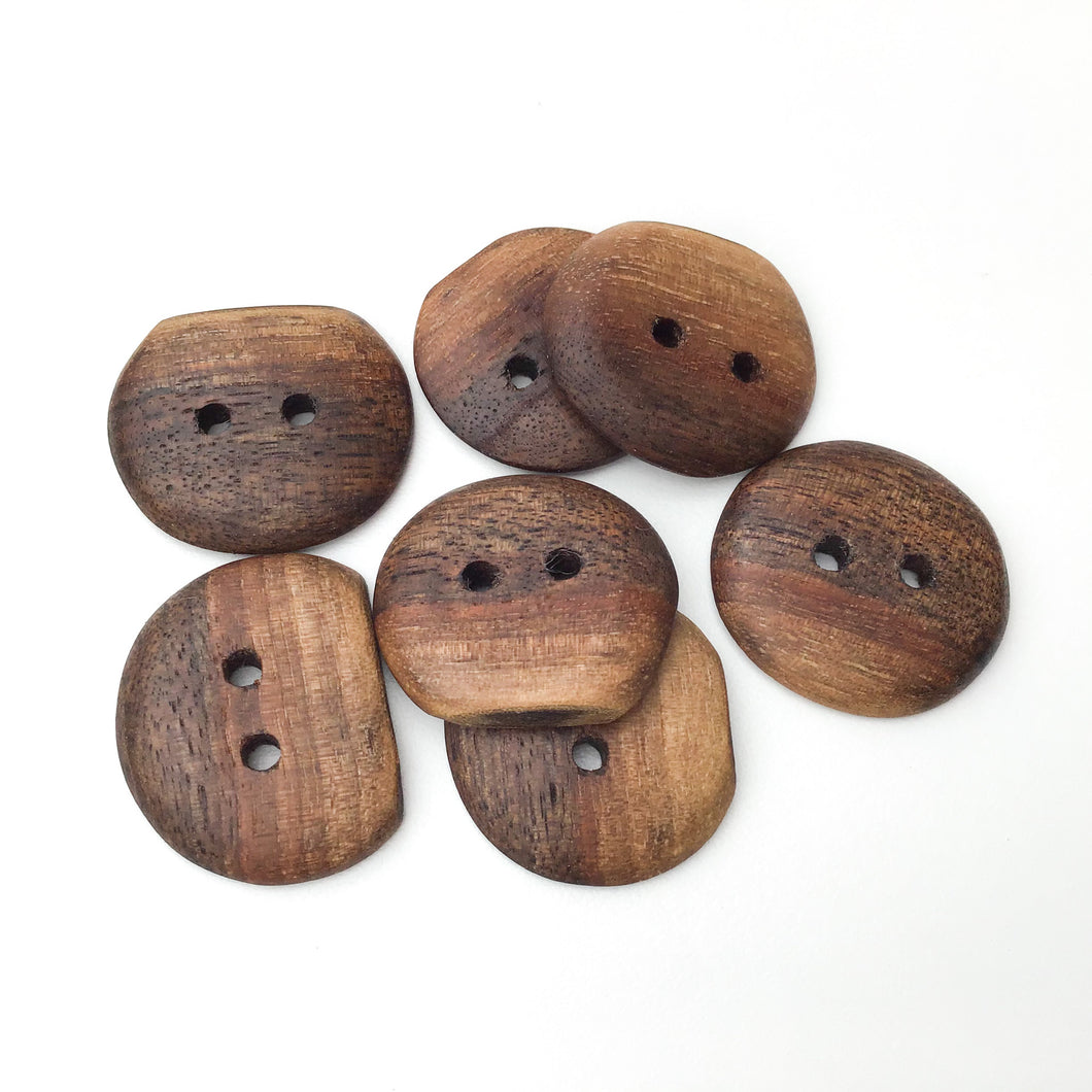 Black Walnut Wood Buttons - Live Edge Black Walnut Buttons - 1 1/8