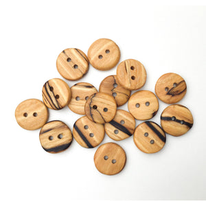 Spalted American Elm Buttons - Handcrafted Wood Buttons - 3/4""