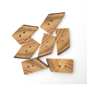 "Black Locust Wood Buttons - Live Edge Wood Buttons - Wood Toggle Buttons - 3/4"" x 1 1/2"""