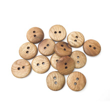 Load image into Gallery viewer, Sassafras Wood Buttons - Round Wood Buttons - 1""