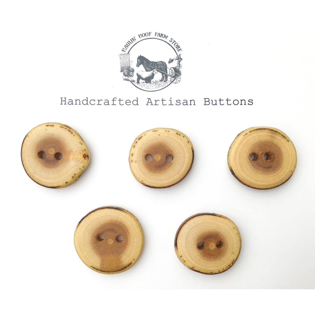 Mulberry Wood Buttons - Live Edge Mulberry Wood Buttons - 1