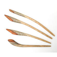 Load image into Gallery viewer, Live Edge Sassafras Wood Shawl & Sweater Pins - Wooden Hair Pins