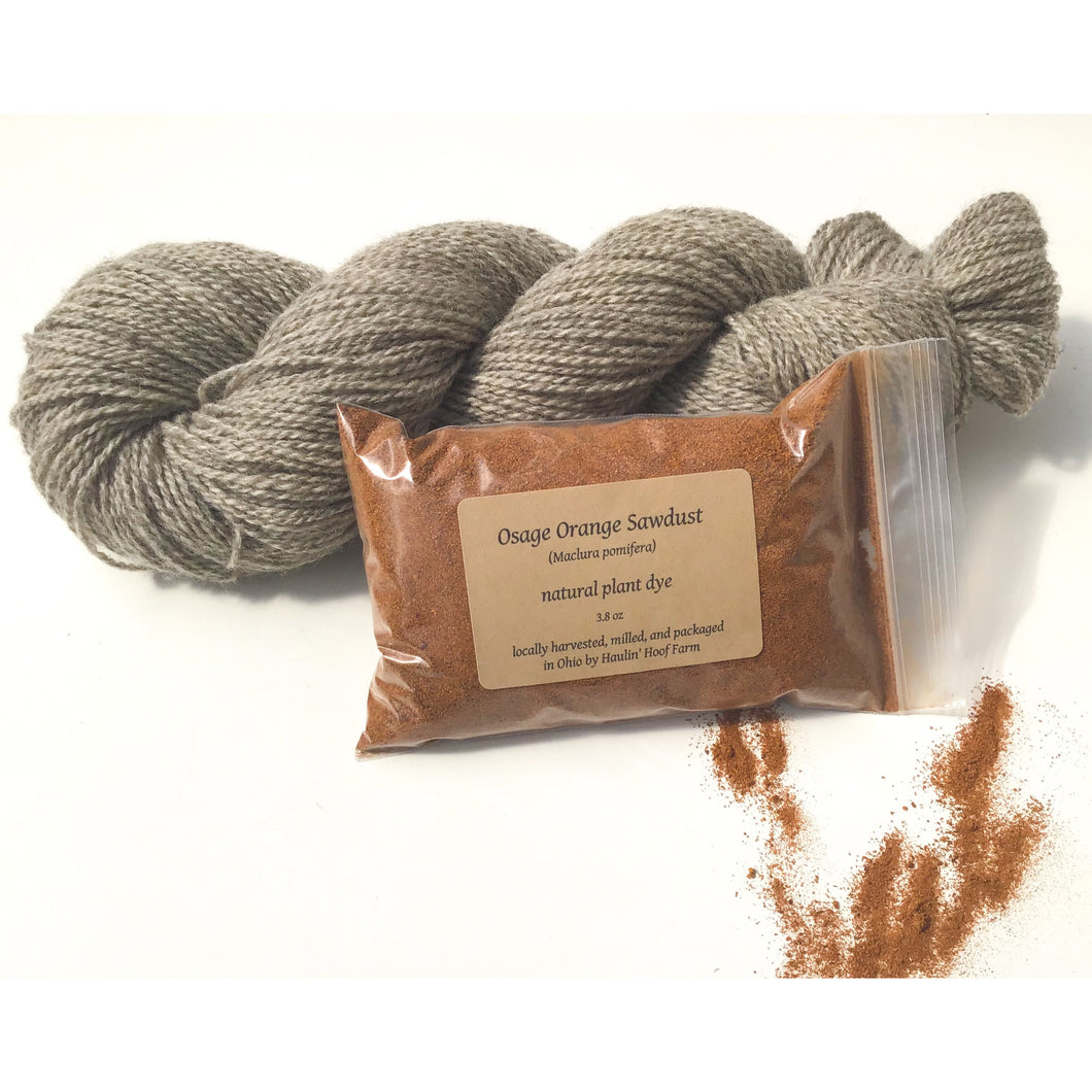 Plant Dye Yarn Kit - Osage Orange + Natural Colored Wool Yarn Dye Kit - Sport Weight Yarn