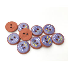 "Load image into Gallery viewer, Decorative Blue Ceramic Buttons - Small Round Ceramic Buttons - 1/2"" - 10 Pack"
