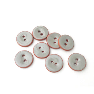 "Gray Ceramic Buttons - Small Round Ceramic Buttons - 1/2"" - 8 Pack"
