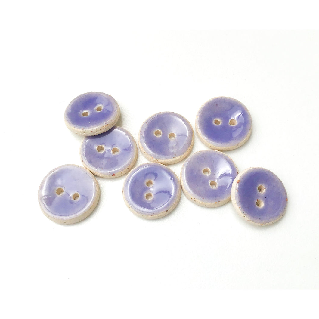 Light Purple Ceramic Buttons - Small Round Ceramic Buttons - 9/16