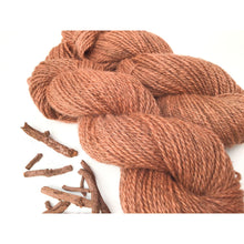 Load image into Gallery viewer, Madder Root Dyed Wool Yarn - Plant Dyed Wool Yarn 2-Ply - Worsted Weight 3.75 oz