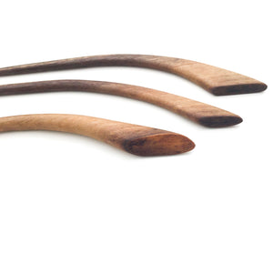 Live Edge Black Walnut Wood Shawl & Sweater Pins - Wooden Hair Pins