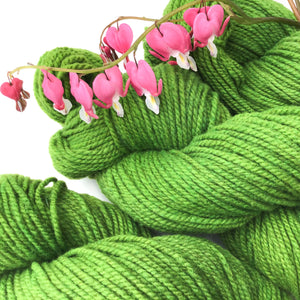 Hand-dyed Moorit Merino Yarn - DK - Light Worsted Weight - Tomato Leaf Green