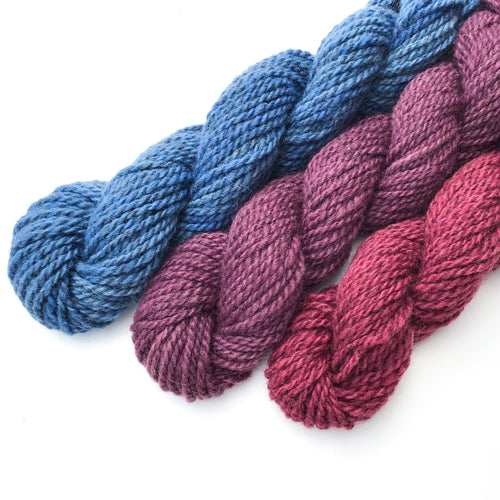 Gemstone Yarn Colorway - 2ply Hand-dyed Yarn - Worsted Weight