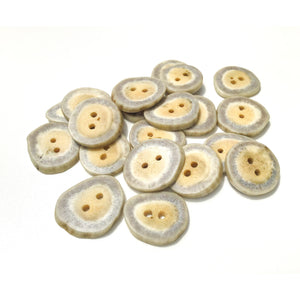 "Deer Antler Shed Buttons - Polished Natural Antler Buttons - 3/4"" x 1/8"""