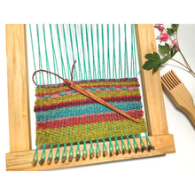 "Load image into Gallery viewer, Weaving Tapestry Needles - 2 Hole Wooden Tapestry Needles - 6 1/2"" Long"