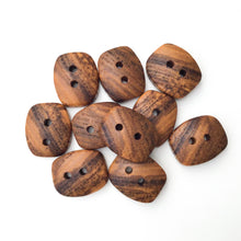 "Load image into Gallery viewer, Ash Wood Buttons - Rectangular Wood Buttons - 3/4"" x 1 """