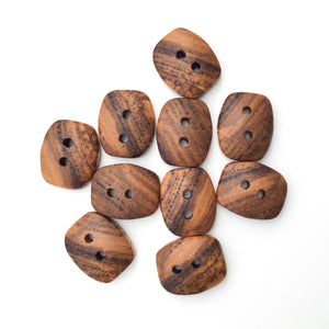 "Ash Wood Buttons - Rectangular Wood Buttons - 3/4"" x 1 """