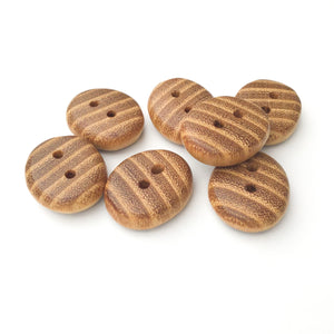 "Black Locust Wood Buttons - Oval Wood Buttons -  11/16"" x 1"" x 5/16"" thick"