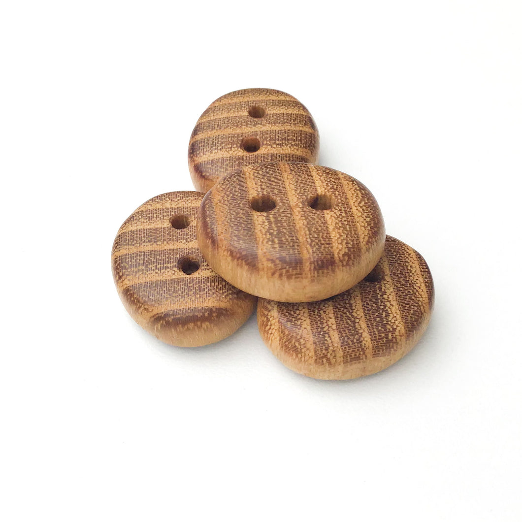 Black Locust Wood Buttons - Oval Wood Buttons - 13/16