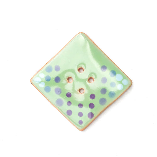 Large Ceramic Button in Pastels - Decorative Clay Button - 1 3/8
