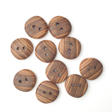 Load image into Gallery viewer, Black Locust Wood Buttons - Round Wood Buttons - 7/8""