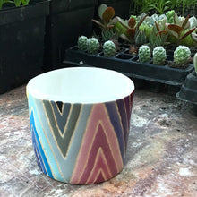 Load image into Gallery viewer, Reserved Listing for Sarah* Quilted Rainbow Succulent Pot