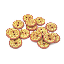 "Load image into Gallery viewer, Chartreuse Mandala Ceramic Buttons - Small Yellow Ceramic Buttons - 9/16""(ws-48)"