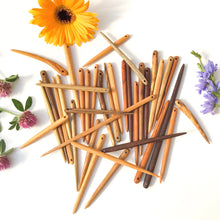 Load image into Gallery viewer, Wooden Needles - Mixed Local Hardwood Needles - various sizes