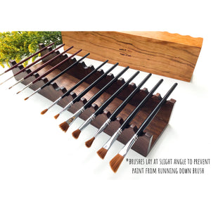 Wooden Paintbrush Holder - Made from Appalachian Hardwoods