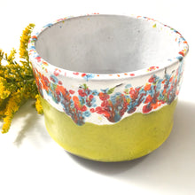 Load image into Gallery viewer, Handcrafted Ceramic Planter - Chartreuse & Vivid Color Contrast Plant Pot
