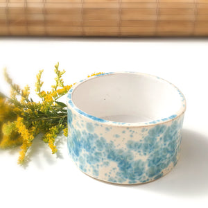 Handcrafted Ceramic Vessel - Blue & White Speckleware
