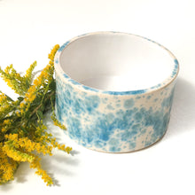 Load image into Gallery viewer, Handcrafted Ceramic Vessel - Blue & White Speckleware