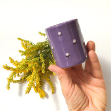 Load image into Gallery viewer, Purple Bud Vase - Pencil Holder - Decorative Ceramic Vessel