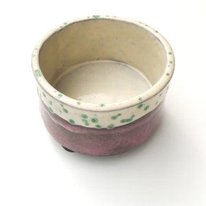 Handcrafted Ceramic Planter - Lavender & Cream with Jade Green Speckles - Plant Pot