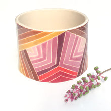 Load image into Gallery viewer, Handcrafted Ceramic Vessel - Colorful Quilted Stripes in Clay