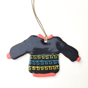 Sweater Ornament - South American Fair Isle Design