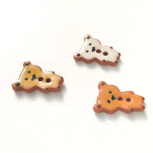 Teddy Bear Buttons - Ceramic Bear Buttons -Children's Animal Buttons (ws-243)