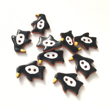 Load image into Gallery viewer, Penguin Buttons - Ceramic Penguin Buttons - Children's Animal Buttons