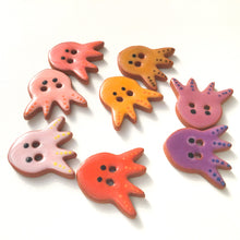 Load image into Gallery viewer, 'Earth Tones' Octopus Buttons - Ceramic Ceramic Buttons -Children's Animal Buttons