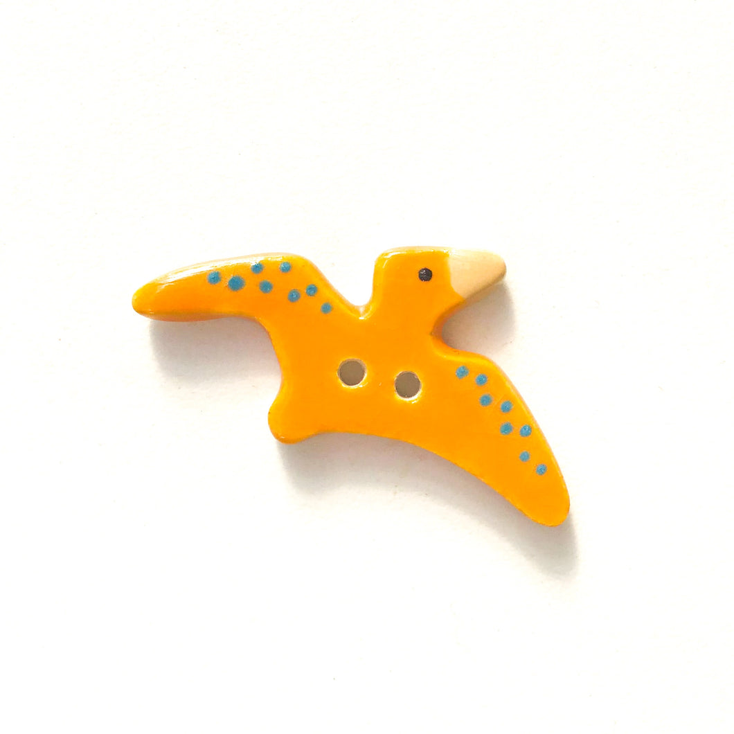 Pterdactyl Buttons - Ceramic Dinosaur Buttons - Children's Animal Buttons