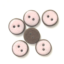 "Load image into Gallery viewer, Pastel Pink Ceramic Buttons - Light Pink Clay Buttons - 3/4"" - 6 Pack"