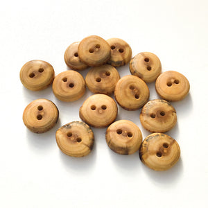 Mulberry Wood Buttons - Wooden Buttons - 3/4""