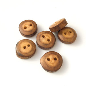 "Mulberry Wood Buttons - Wooden Buttons - 3/4"" - 7 Pack"