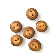 "Load image into Gallery viewer, Mulberry Wood Buttons - Wooden Buttons - 3/4"" - 7 Pack"