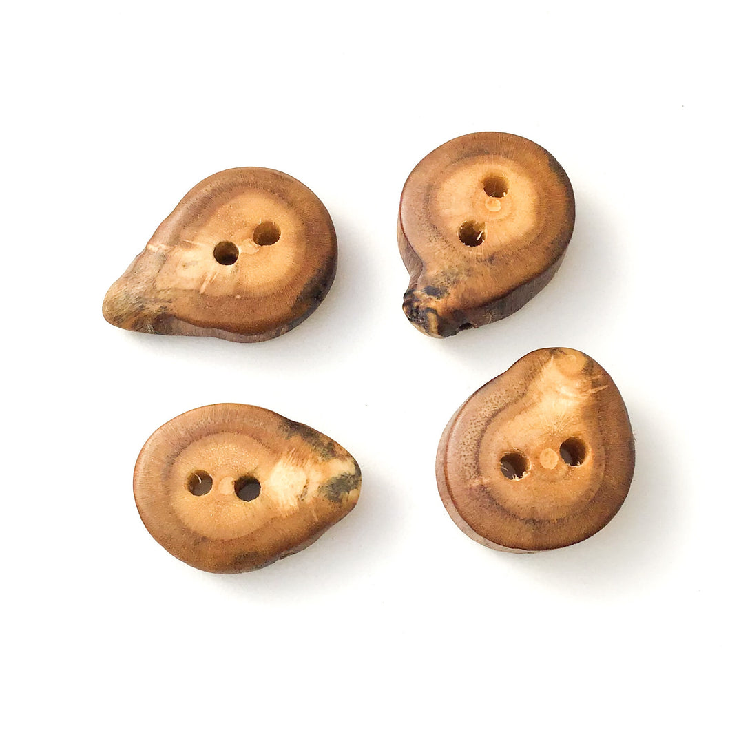 Mulberry Wood Buttons - Wooden Buttons - 3/4