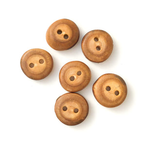 "Mulberry Wood Buttons - Wooden Buttons - 3/4"" - 5 Pack"