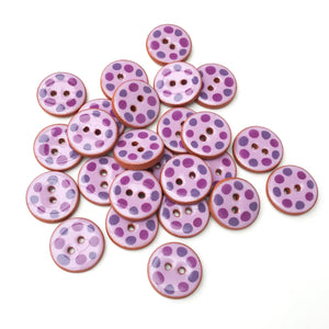 Purple Cobblestones Ceramic Buttons - Purple Clay Buttons - 3/4""