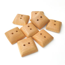 Load image into Gallery viewer, Large Maple Wood Buttons - Square Maple Buttons - 1""